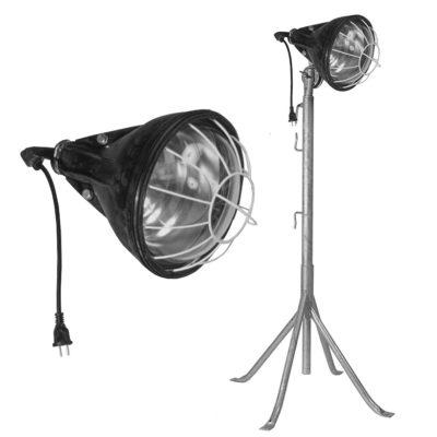 eclairage-incandescent-projecteur-caoutchouc-pied