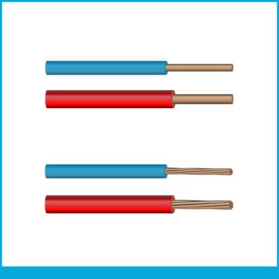 Domestique rigide : H07V‑U, H07V‑R, FRN07V-AR