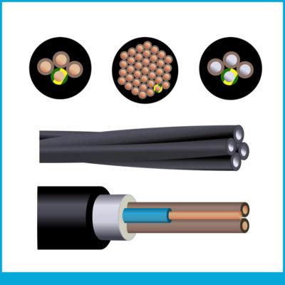 Industriel rigide : U‑1000R2V, U‑1000AR2V, U‑1000RVFV, U‑1000ARVFV