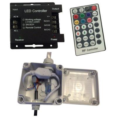 eclairage-ruban-LED-raccordement-controleur-telecommande