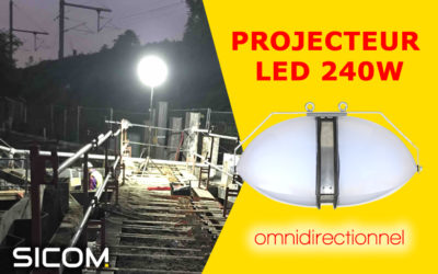 Projecteur LED de chantier à forte luminosité